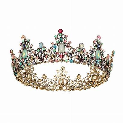 Crown Queen Transparent Jeweled Crowns Accessories Tiara