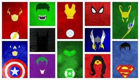 Superheroes Logos Wallpaper