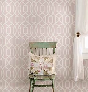 Wall Pops NU1420 Pink Grand Trellis Peel and Stick ...