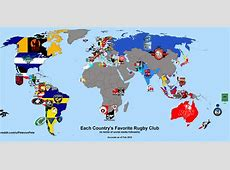 Each Nations favourite rugby club based on Social Media