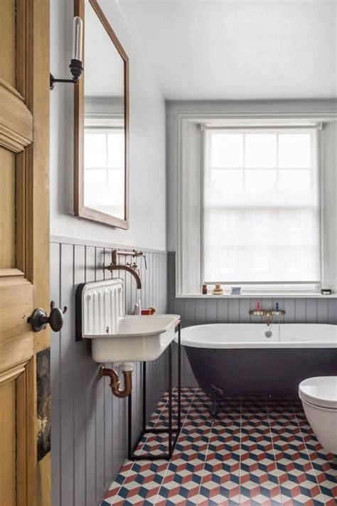 east londons  beautiful flat cement tile bathroom