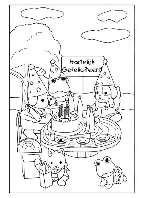 Kleurplaat Hond Verjaardag by Verjaardag Kleurplaten