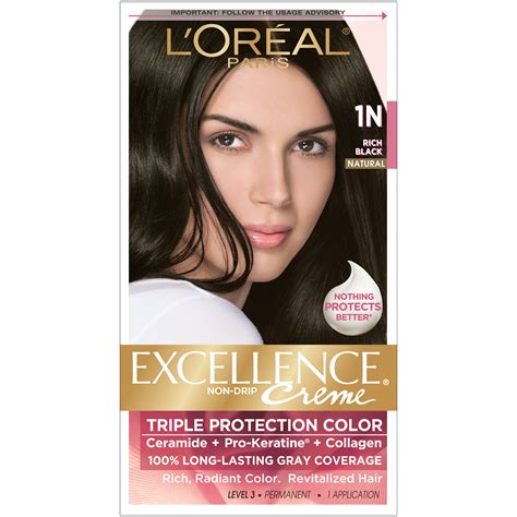 Rich Black Hair Color by L Oreal Protection 1n Rich Black Hair Color