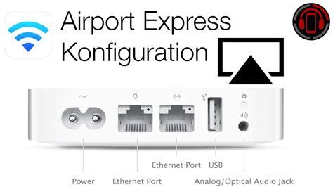 airport express einrichten airplay audio setup tutorial german
