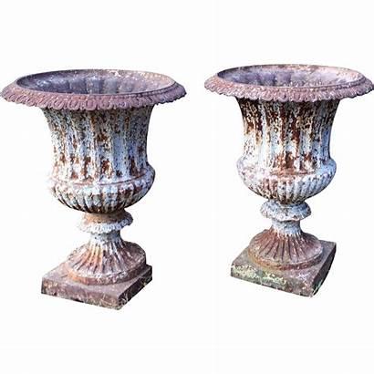 Cast Antique Iron Century 19th Garden Pair