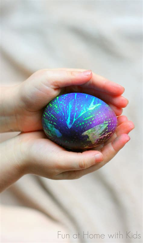 diy easter eggs tie dyed eggs