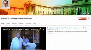 Finance Ministry's Official YouTube Channel Launched ...