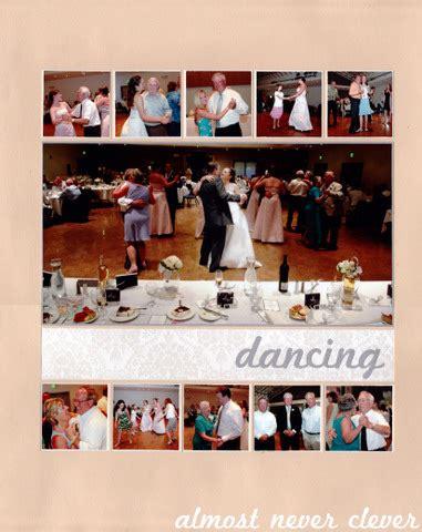 wedding reception layout scrapbook layout wedding scrapbook reception dancing