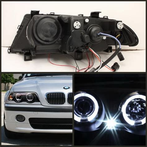 led lights replacement bulbs 1999 01 bmw e46 3 series black led halo 1pc projector