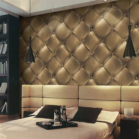10m Textured Wallpaper 3d Leather Look Modern Wall Decor