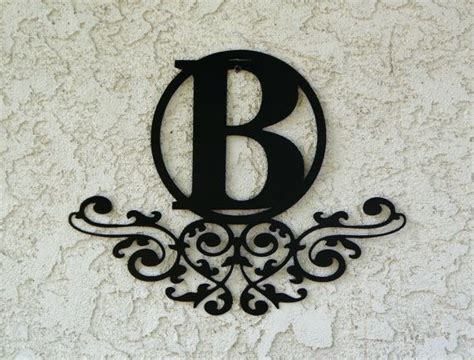 personalized family monogram metal sign custom  candgmetalart metal letter signs custom