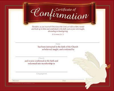 confirmation certificate lvs church supplies