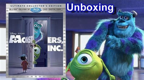 Monsters Inc 3d Blu-ray/dvd Unboxing