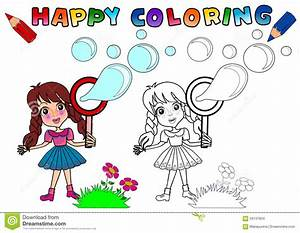 Coloring Book For Kids Stock Illustration  Illustration Of