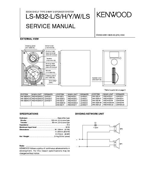 kenwood ls m32l m32s m32h m32y m32w m32ls service manual