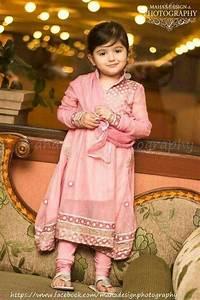 cute girl in baby pink Pakistani frock | Kids Fashion ...
