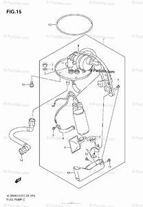 Suzuki Motorcycle 2009 Oem Parts Diagram For Fuel Pump