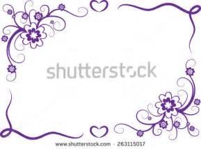 Purple Flower Border Designs Vector