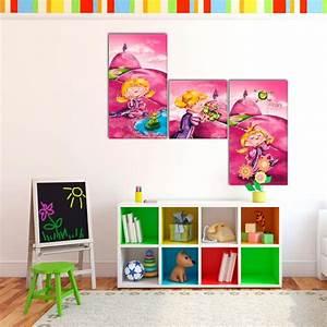 Tableau Chambre Fille : tableau 39 princesse et la grenouille 39 decodeo ~ Teatrodelosmanantiales.com Idées de Décoration