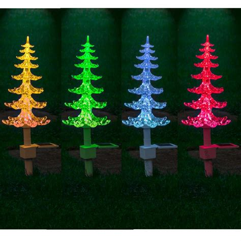 outdoor festive colour changing garden led solar christmas