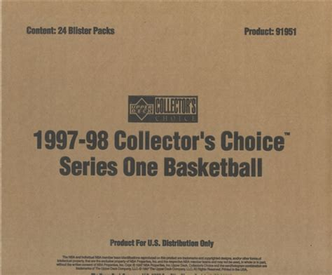 Deck Collectors Choice 1997 by 1997 98 Deck Collector S Choice Series 1 Basketball