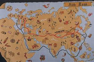 Ancient China Silk Road Route