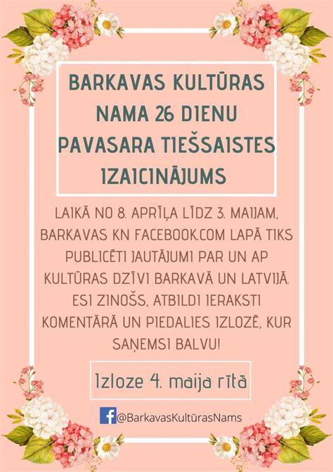 Barkavas kultūras nama 26 dienu pavasara tiešsaistes izaicinājums - barkava.lv