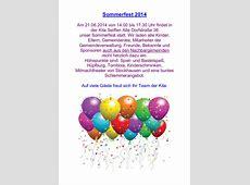 Sommerfest im Kindergarten Spielzeugland am 21Juni 2014