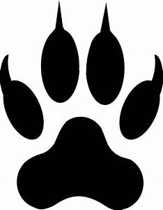 dog paw outline clipartsco With tiger paw template
