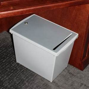 personal document container busch systems With locking document container