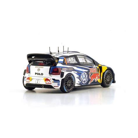 volkswagen polo r wrc 1 rallye monte carlo 2015 ogier ingrassia spark s4501 miniatures minichs