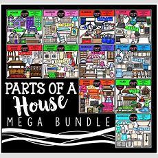 Parts Of A House Clip Art Mega Bundle {educlips Clipart