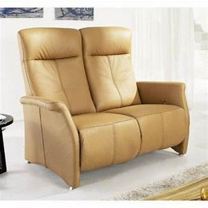 Canapé Cuir Camel : kingston canape relax cuir vachette camel ~ Teatrodelosmanantiales.com Idées de Décoration