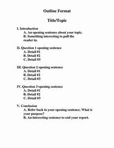 mla format formal outline outline format doc doc With prewriting outline template