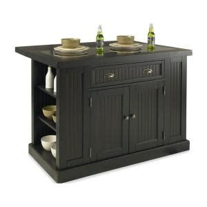 kitchen island home depot home styles nantucket kitchen island in distressed black with black granite inlay 5033 94 the