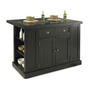 nantucket kitchen island home styles nantucket kitchen island in distressed black with black granite inlay 5033 94 the
