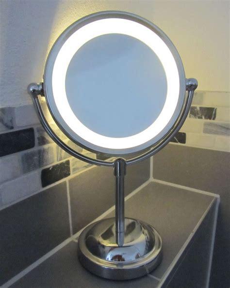 light up mirror with 5 x magnifying round led illuminated bathroom make up