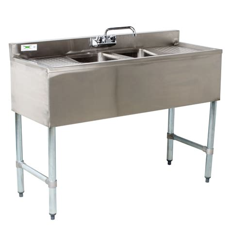 Bar With Sink by Regency 2 Bowl Underbar Sink With Faucet And Two