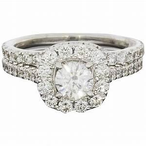 neil lane diamond gold cushion shaped halo engagement and With neil lane wedding ring sets