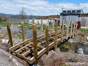 Fabriquer Un Arc : d corer un bassin avec un pont en bois pont en arc ~ Nature-et-papiers.com Idées de Décoration