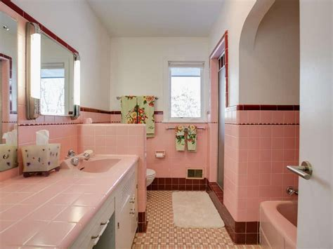 The Pink Bathroom  A Trend Of The 1950's  J Carsten