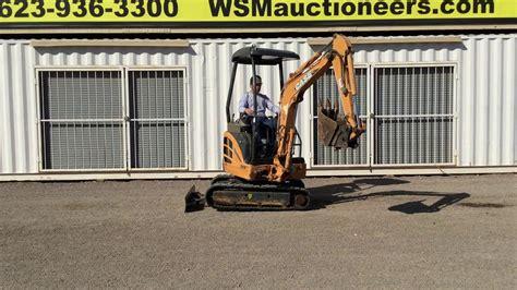 case cxb mini excavator  auction march   youtube