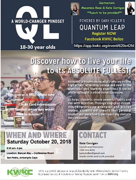 ql  world changer mindset workshop  young adults