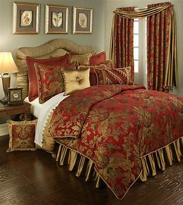 Verona, Red, By, Austin, Horn, Luxury, Bedding