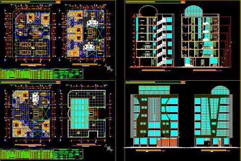 apartment building  storeys dwg elevation  autocad designs cad
