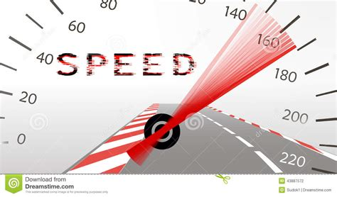 Acceleration Limit On The Highway Stock Illustration ...