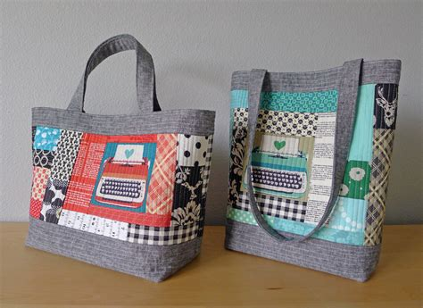 quilted tote bags sewdowns the modern quilt guild