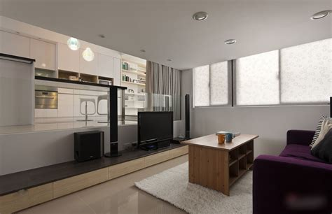 Modern Apartment : Modern Small Apartment With Open Plan And Loft Bedroom