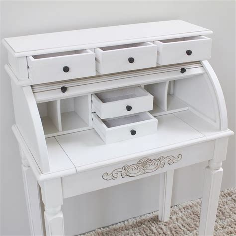 white roll top desk carved wood roll top desk in white 3920 aw