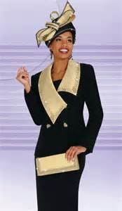 Black and Gold Ladies Dress Suits